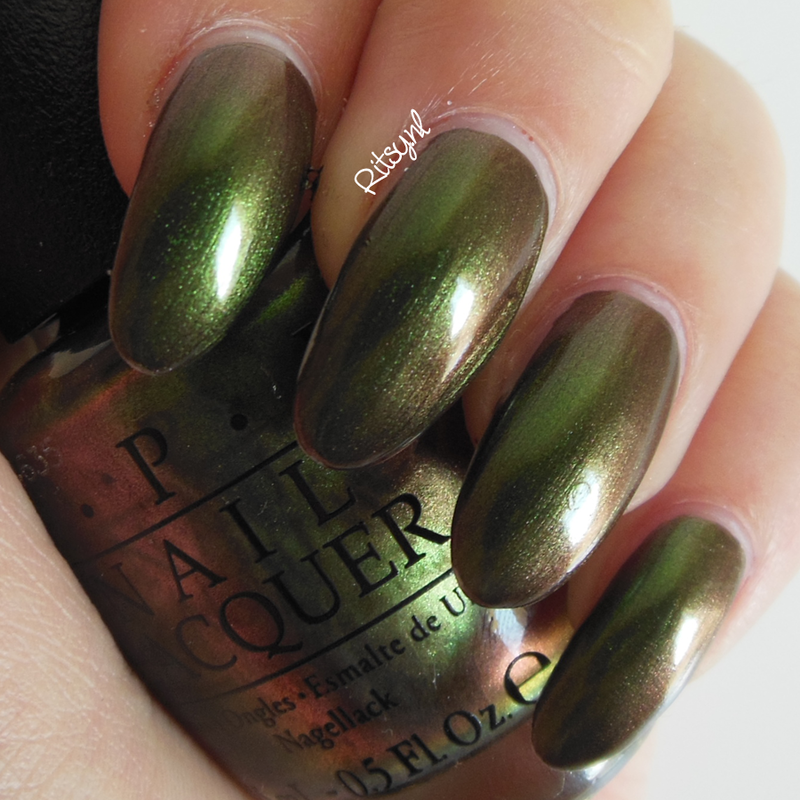 OPI Green On The Runway Swatch by Ritsy NL