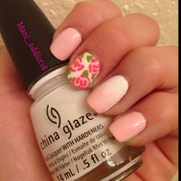 Rose nail art by S.M.R