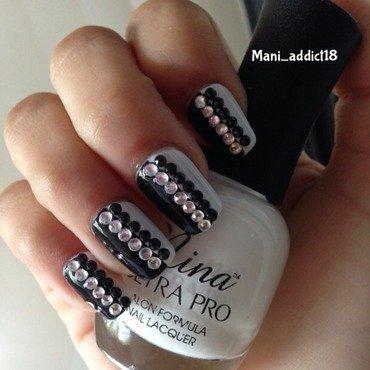Black & White nail art by S.M.R