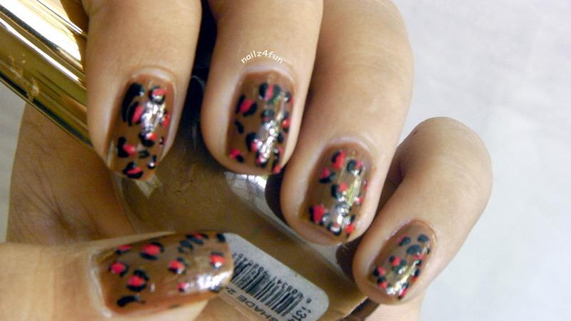 Leopard Print nail art by Nailz4fun