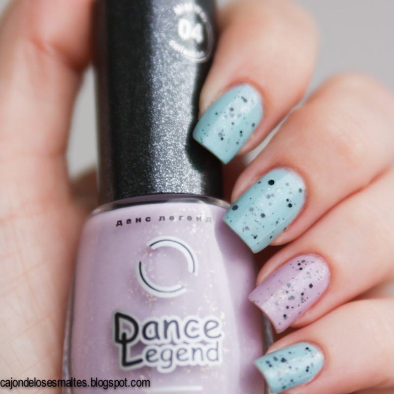 Speckled eggs - Jelly sandwich with Dance Legend nail art by Cajon ...