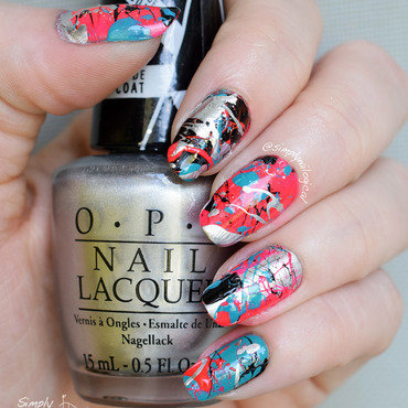 Messing around with straws and splatter nail art by simplynailogical