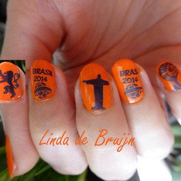 World Cup 2014 nail art by Linda de Bruijn
