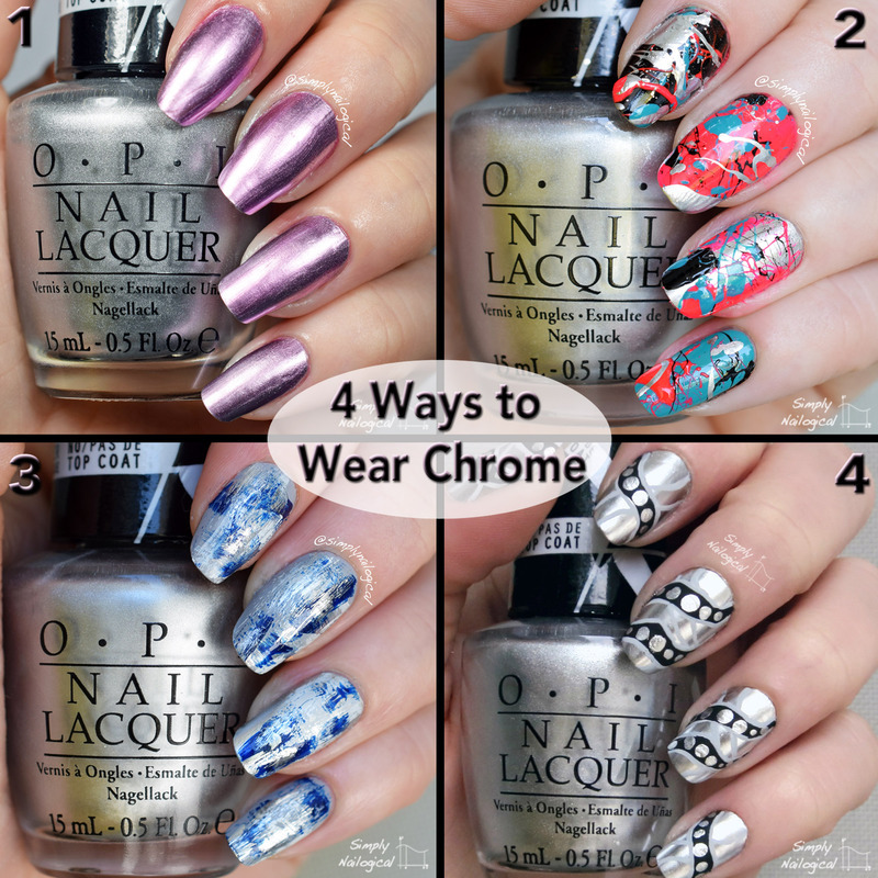 Four ways to wear chrome nail art by simplynailogical
