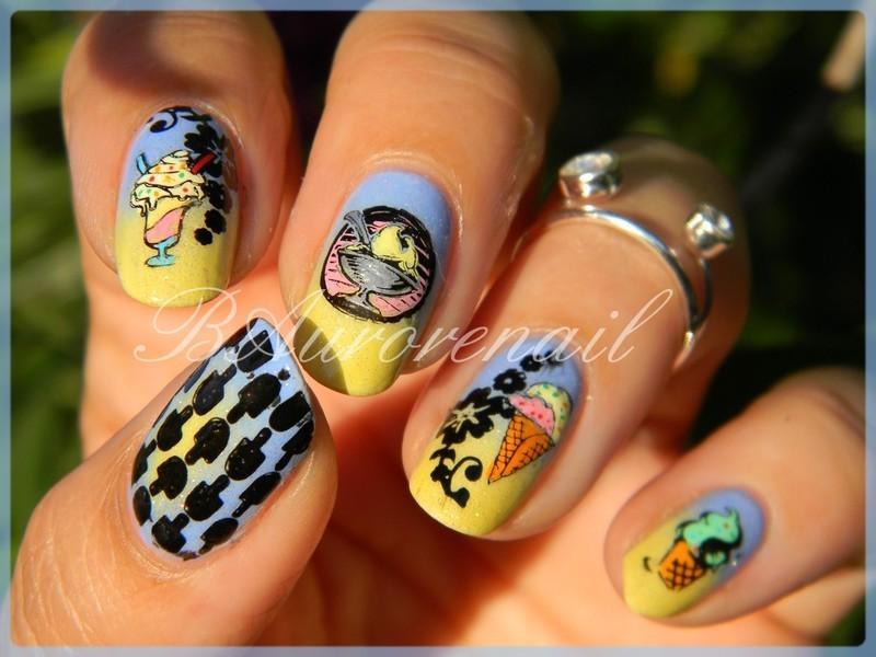 Glaces gourmandes nail art by BAurorenail