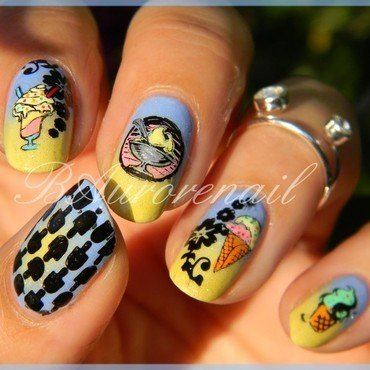 Glaces gourmandes nail art by BAurorenail
