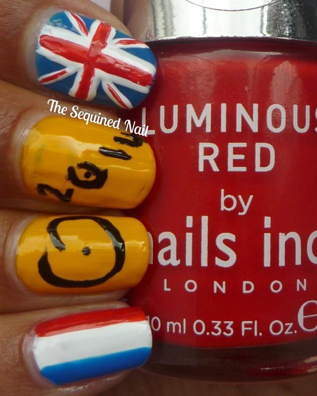 Tour de France nails nail art by TheSequinedNail