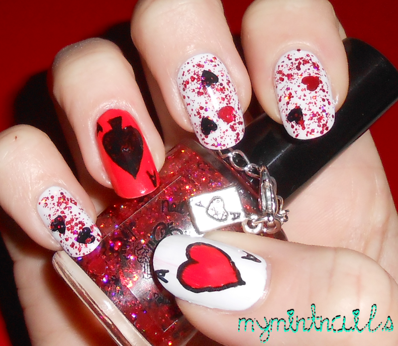 Playing Cards nail art by MyMintNails