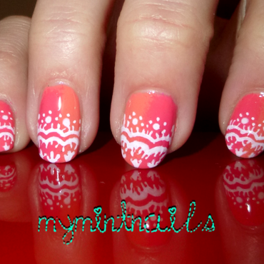 Lace tips nail art by MyMintNails