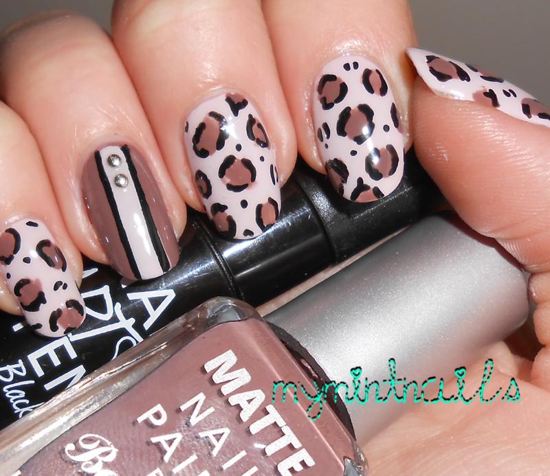 Leopard Mix nail art by MyMintNails