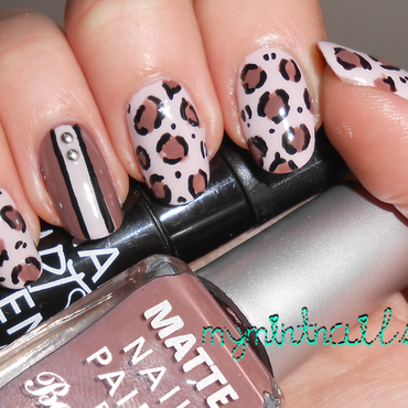 Leopard Mix nail art by MyMintNails