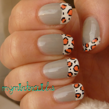 Leopard Tips nail art by MyMintNails
