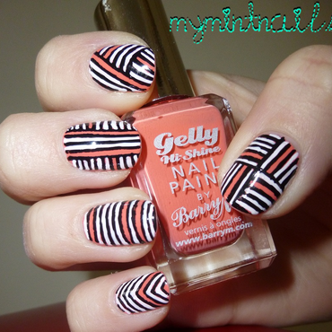 Tribal Stripes nail art by MyMintNails