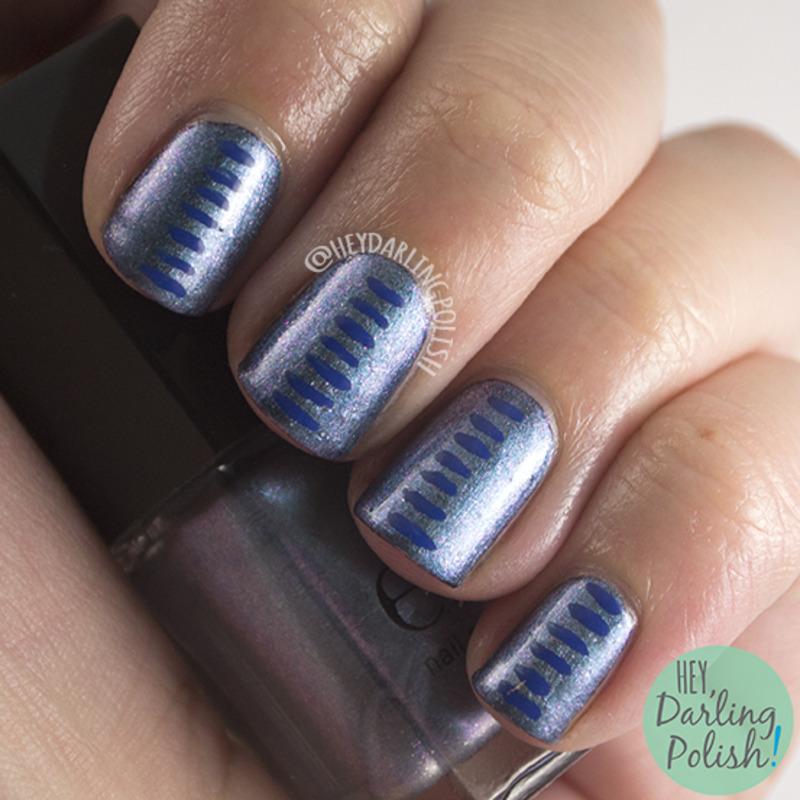 Dashed Duochrome nail art by Marisa  Cavanaugh