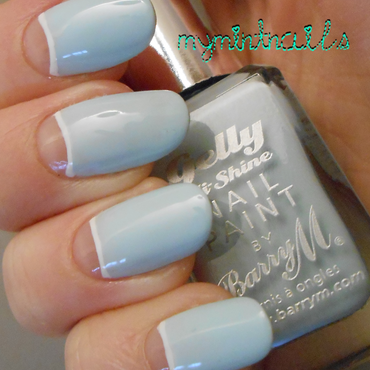 Blue Half Moons nail art by MyMintNails