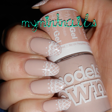 Nude Lace nail art by MyMintNails