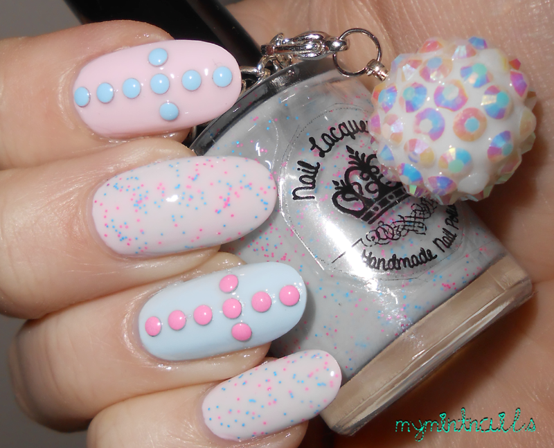 Stud Crosses nail art by MyMintNails