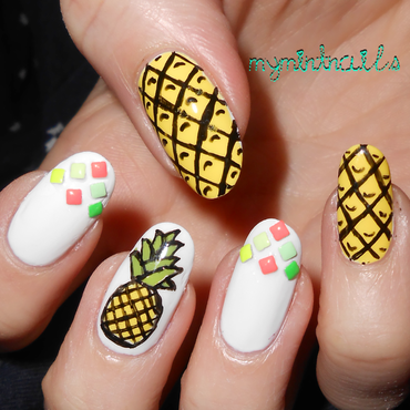 Pineapple! nail art by MyMintNails
