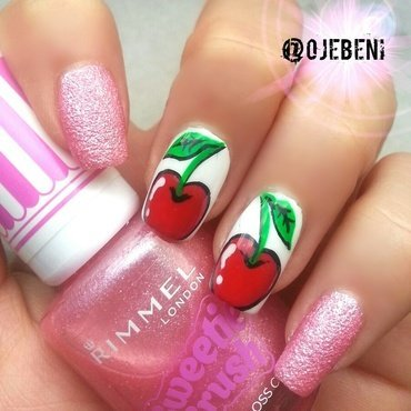 Yummy Cherries nail art by ojebeni
