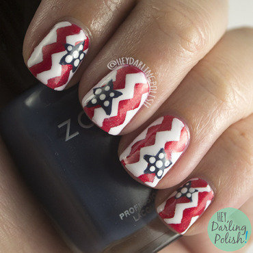 Fingerfood theme buffet patriotic zig zag star nail art 4 thumb370f