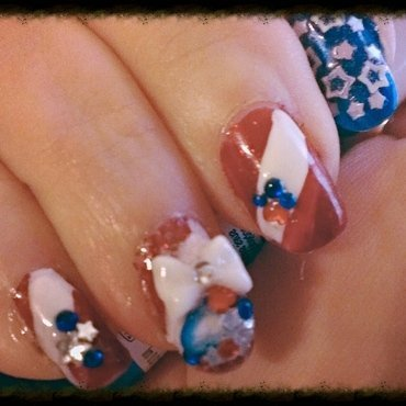 4th of July nail art by Steph
