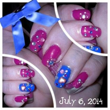 Cure for the Summertime blues nail art by Steph