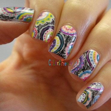 Paisley Print nail art by Novi
