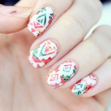 Tropical Aztec Nails nail art by Jen from polished-with-love
