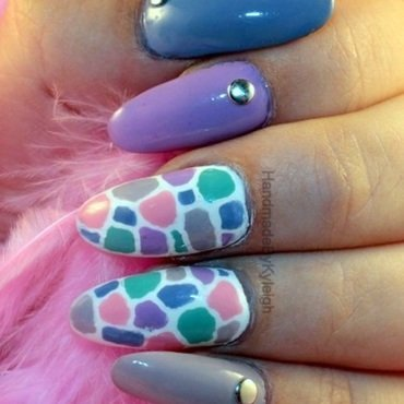 Pastel Pebbles nail art by  Kyleigh  'Handmade By Kyleigh'