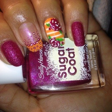 Sugar My Flowers  nail art by Milpa  InternNails