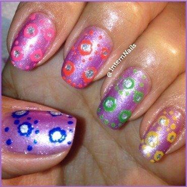 Purple Me Colorful  nail art by Milpa  InternNails