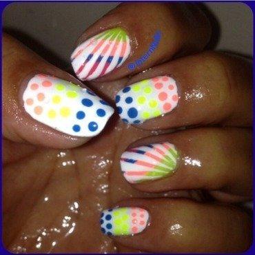 Summer Brighter  nail art by Milpa  InternNails