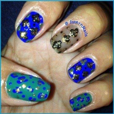 Gold Glitters  nail art by Milpa  InternNails