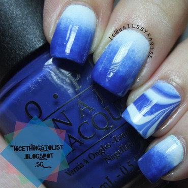 White blue ombre watermarble thumb370f