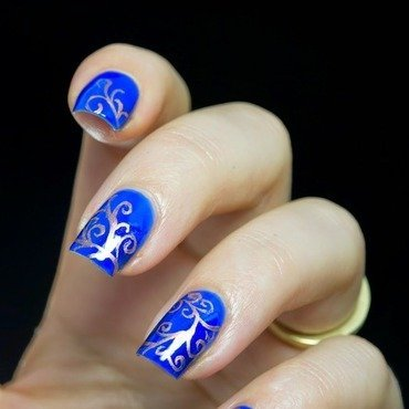 Swirl pattern nail art thumb370f
