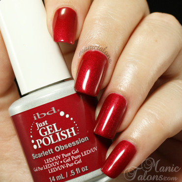 IBD Just Gel Polish Scarlett Obsession Swatch by ManicTalons