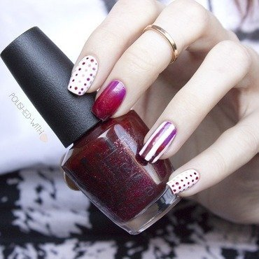 Stripes and Dots nail art by Jen from polished-with-love