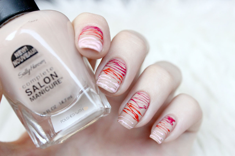 Sugar Spun Gradient nail art by Jen from polished-with-love