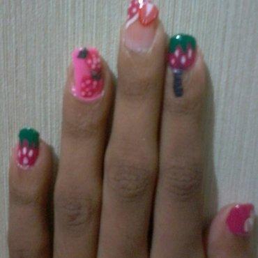 strawberry nailart nail art by reena  dsa