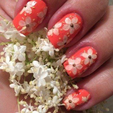 Elderflowers  nail art by Sanna