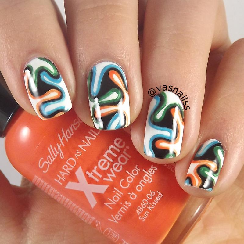 Brazuca nail art by  Vanesa