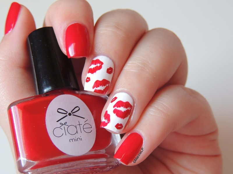 World Kissing Day Nail Art By Marine Loves Polish Nailpolis