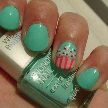 Iced Cupcake nail art by Lina-Elvira