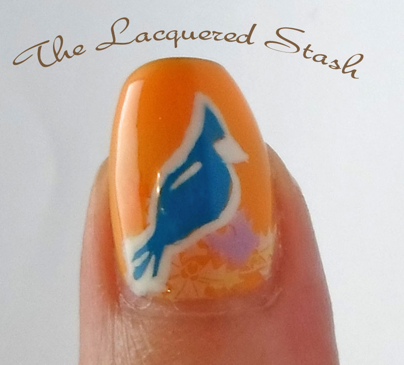 Birds of A Feather nail art by Emma N.