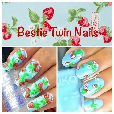 Bestie Twin Mani with @nailartbymae  nail art by Cubbiful