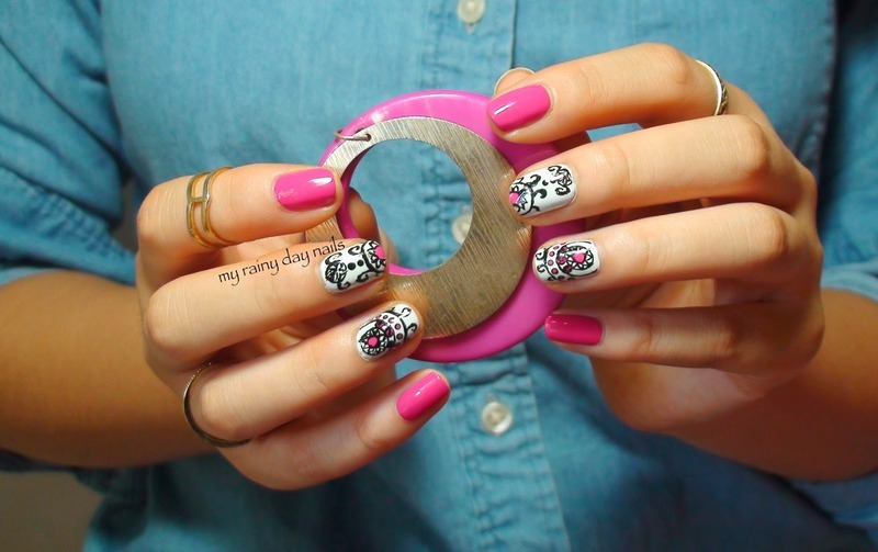 Intricate Design With Pink Accents nail art by Nova Qi (My Rainy Day ...