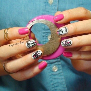 Intricate Design With Pink Accents nail art by Nova Qi (My Rainy Day Nails)