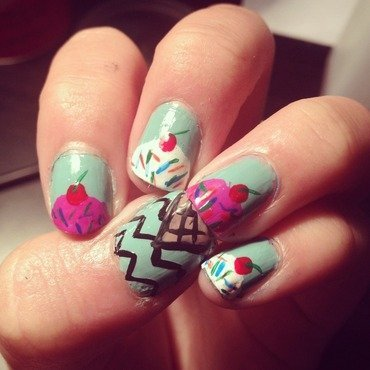 Icecream nail art by Princesscourtney