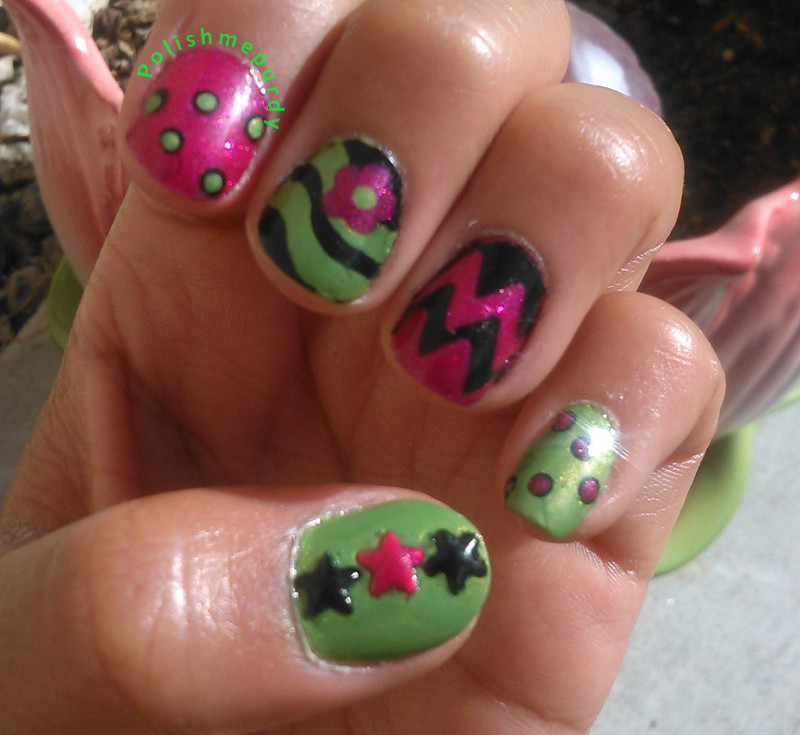 Blast From The Past  nail art by Devie J