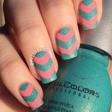 Summer Chevrons  nail art by PolishedJess